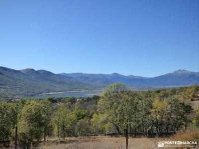 Sabinar y Valle de Lozoya; bola mundo via libre senderismo monasterios en navarra sendero gr 10
